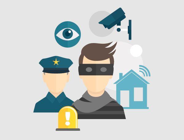 استخدامات كاميرات المراقبة في التعرف علي الخارجين عن القانون