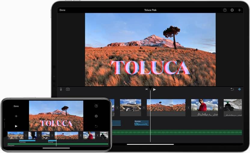 خصائص برنامج iMovie