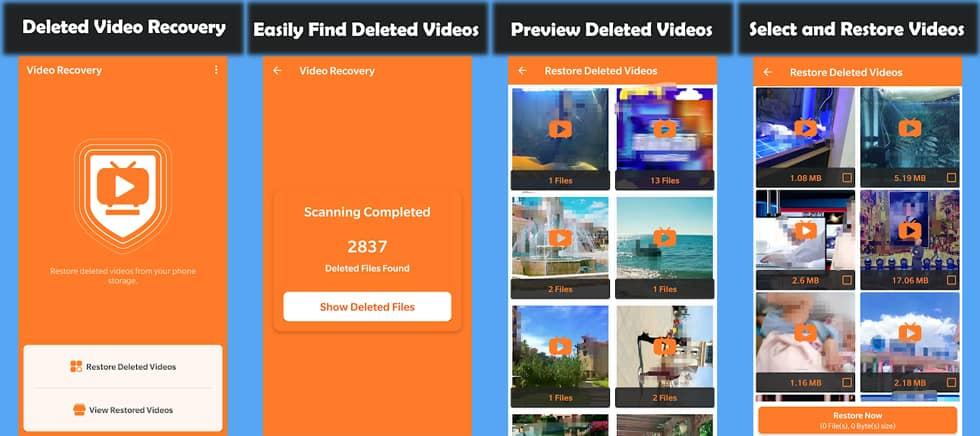 تطبيق Deleted Video Recovery Mobile